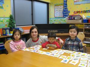 英会話幼稚園の授業風景